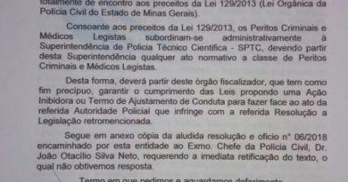 SINDPECRI denuncia à Promotoria de Patrimônio Público atos do Chefe da PCMG