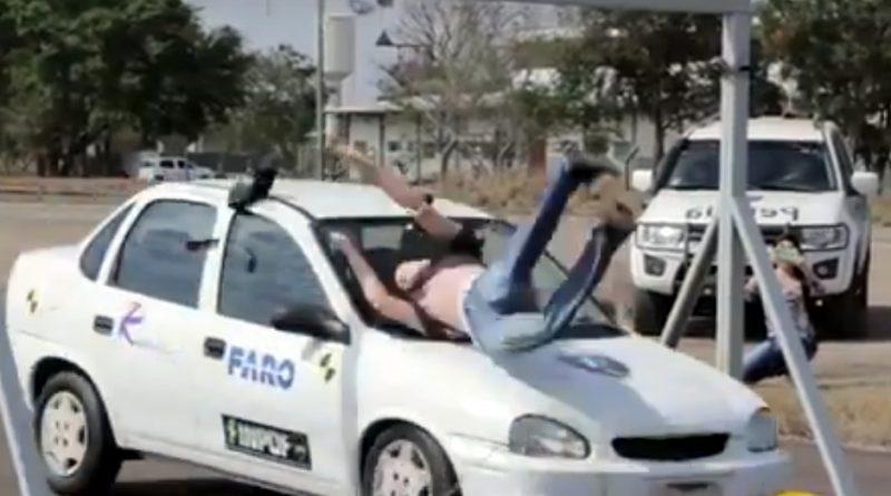 Treinamento simula acidente para melhorar perícia de trânsito